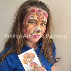 Skye Paw Patrol Face Paint by Smiley Art Face Painting