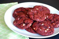 Red velvet white chocolate chip cookies -- Use different food coloring for different colors. Could be a good way to make Orange & Blue gator cookies!