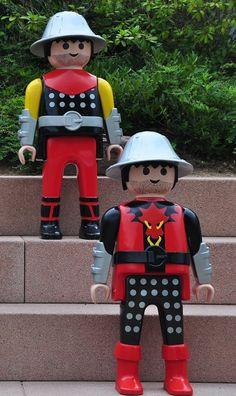 Playmobil géant - Photo de groupe n°14 - Les chevaliers (FunPark, Zirndorf, Germany)