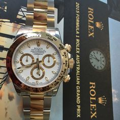 The race is on! Check out the new style Rolex Daytona in steel & gold