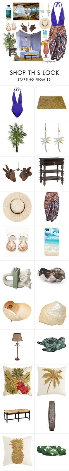 """""""Relaxation in Fiji!"""" by ladyvegas08 ❤ liked on Polyvore featuring Lazul, Nearly Natural, Paul & Joe, Fanimation, Tommy Bahama, OLIVIA MILLER, Dot & Bo, Pearl Dragon, EMAC & LAWTON and Pier 1 Imports"""