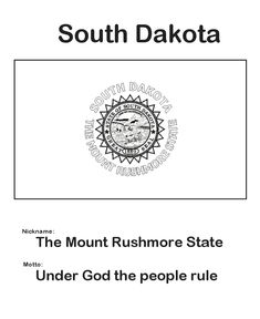 South Dakota State Flag Coloring Page SouthDakota