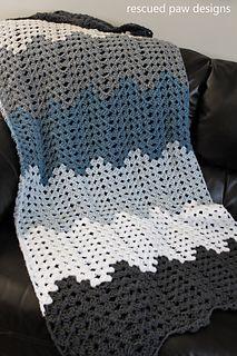 <3 FREE PATTERN <3 Granny Ripple Blanket Pattern - Rescued Paw Designs