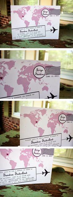 Wedding Stuff Ideas: Travel Themed Wedding Invitations