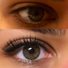 Before & after Xtremelash eyelash extensions