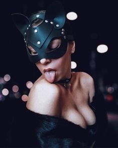 28.00$      If you want to refresh your love life, a pet play would be a completely new and sophisticated experience. This leather cat woman mask will make you feel the sexiest woman in the world, and your partner couldn't escape from your charm!  #leathermask #catwoman #harnessfashion Leather Mask, Leather Harness, Catwoman Mask, Sexy Gifts, Cat Mask, Halloween Outfits, Natural Leather, Masquerade, Kinky
