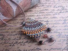Лепим кулон из полимерной глины с эффектом точечной росписи - Ярмарка Мастеров - ручная работа, handmade
