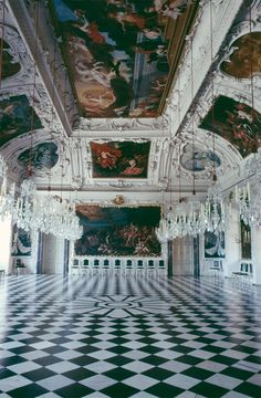 #Eggenberg palace, The Planetary Hall painted by Hans Adam Weissenkircher 1684/5 in Graz, #Austria #Baroque