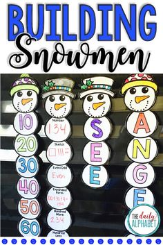 TEACH YOUR CHILD TO READ - Building Snowmen allows students to complete a craft and to practice their literacy and numeracy skills. Super Effective Program Teaches Children Of All Ages To Read. Kindergarten Teachers, Teaching Kids, Primary Classroom, Classroom Ideas, Winter Activities, Preschool Activities, Preschool Worksheets, Preschool Learning, Literacy And Numeracy
