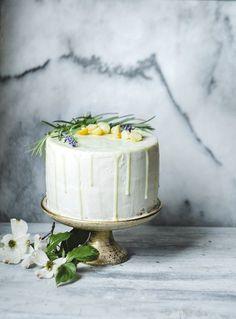 ... vanilla bean macadamia nut cake with lavender buttercream and white chocolate ganache ...