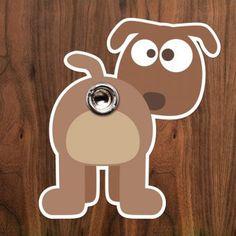 Türspion-Sticker Dog