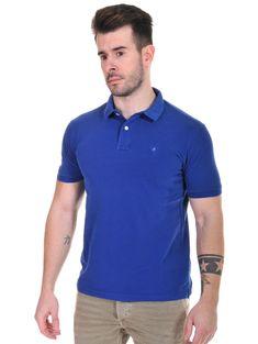 879263e1f2d6 REPLAY Ανδρικό μπλε ρουά κοντομάνικο πικέ πόλο μπλουζάκι