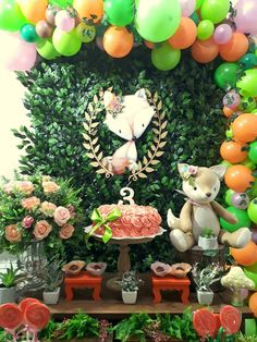 Fox Party, Baby Shower, Woodland Baby, Woodland Creatures, 8th Birthday, Birthday Decorations, First Birthdays, Party Themes, Ideas