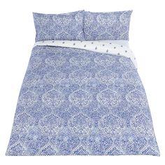 Buy John Lewis Fusion Zari Oxford Pillowcase, Blue Online at johnlewis.com