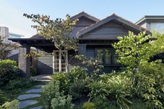 Splinter Society have designed the modern interior renovation of a Californian bungalow in Melbourne Indoor Outdoor Living, Outdoor Living Areas, Outdoor Decor, The Plan, Bungalows, Stepping Stone Paths, California Bungalow, California Houses, Bungalow Renovation