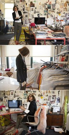 J. Crew's Jenna Lyons in her office   #workspace
