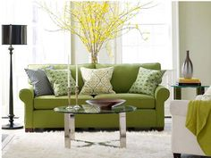 Living Room Comfy Green Modern Sofa For Astounding New Fresh Room