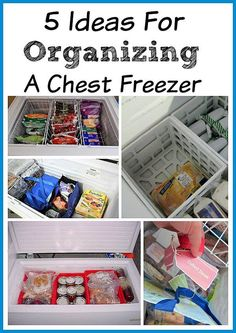 Tired of never knowing what's at the bottom of your deep freezer? Organizing a chest freezer is actually pretty simple, if you know the right tips and tricks! Check out these 9 clever (and inexpensive) ways to organize a chest freezer! Organisation Hacks, Deep Freezer Organization, Freezer Storage, Refrigerator Organization, Budget Organization, Kitchen Organization, Food Storage, Organized Kitchen, Freezer Meals