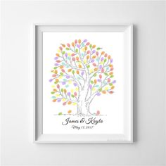 36 best Wedding Fingerprint Tree Ideas, Guest Books Alternative ...