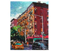 NYC West Village Painting, Greenwich Village, New York Art Print, Wall Art Gift for New Yorker Gwen Meyerson Ireland Vacation, Ireland Travel, Bleecker Street, Ireland Landscape, Chrysler Building, New York Art, Lower Manhattan, Brick Building, Greenwich Village