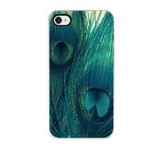 Teal Peacock Feather iPhone Case - iPhone 4 and 4s Case, Decorative Cover, SweetMomentsCaptured via Etsy #fpoe