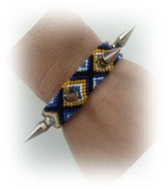 by hf Macrame Spiked Bracelet  ❥ 4U //