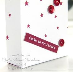 Pootles Advent Countdown #9 Mini Box from Project Life Card Tutorial red label