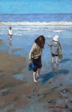 Blue Bucket and White Hat by James MacKeown (b. 1961 Irish)