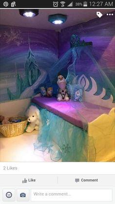 American girl dollhouse frozen bedroom diy