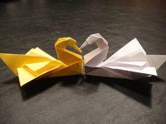 How to Make an Origami Swan (Intermediate) - video tutorial - Rob's World, originally designed by Robert J. Lang
