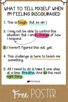 Social Skills 101471797842805683 - Free Growth Mindset, Social Emotional Learning, CBT Coping Statements Poster Source by rosiessuperstars Self Efficacy, Feeling Discouraged, Positive Self Talk, Positive Words, Quotes Positive, Positive Mindset, Social Emotional Learning, Social Anxiety, Coping Skills