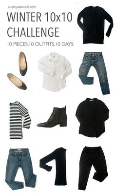 Love this capsule wardrobe challenge. Minimalist me your wardrobe clutter by creating a capsule wardrobe.