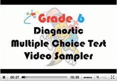 Grade 6 Diagnostic Multiple Choice Test - Video Sampler