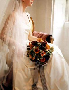 martha stewart weddings painterly bouquet autumn