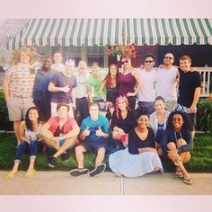 The cast & crew hanging in New Jersey during the Idol Tour!