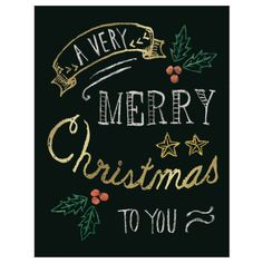 Greeting Life Christmas Blackboard Mini Card design:Holly size :105mm / 75mm check more Greeting Life products