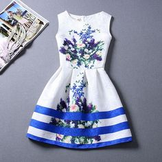 Summer Casual Leisure Print Dress