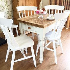 chilmark table with cottage chairs hand painted farmhouse table