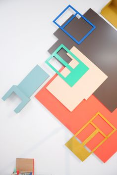 The arrangement of the Particles: wall piece. My house scaled down to 1:5. A research in how the meaning of very obvious things like your own house, changes through different use of material, colour, scale put in a different context.