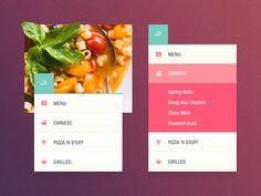 Dark_bg Mobile Web Design, Web Ui Design, Flat Design, Tool Design, Graphic Design, Spring Rolls Menu, Chinese Spring Rolls, Flow Chart Design, Website Menu