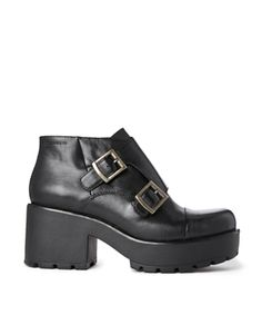 Vagabond Leather Buckle Dioon Ankle Boots