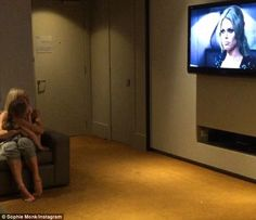 Tense moment: Celebrity Apprentice star Sophie Monk kicked and screamed when she was annou...