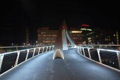 Glasgow, the Tradeston Bridge (also known as Squiggly Bridge)