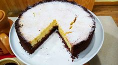 Torta de ricota y dulce de leche en masa de chcocolate