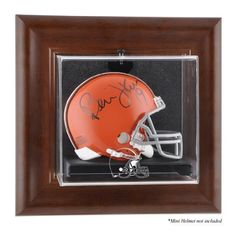 Brown Framed Wall Mini Helmet Case (browns) - Mounted Memories Certified - Autographed NFL Mini Helmets by Sports Memorabilia. $89.99. BROWN FRAMED WALL MOUNTED MINI HELMET CASE (BROWNS)