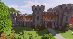 A small castle in the woods - Minecraft Minecraft Fort, Minecraft Small Castle, Minecraft Castle Walls, Minecraft Kingdom, Cute Minecraft Houses, Minecraft Houses Blueprints, Minecraft Plans, Minecraft House Designs, Minecraft Construction