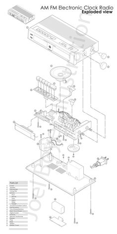 50 best scoppiata images exploded view technical drawings Meyer Snow Plow Frame joelcboyer illustration exploded view drawing alarm clock radio am fm drawing technical
