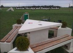 Hetalia ~~~ Unlike USA, these folks know how to get along just fine. ::: Austria, Slovakia, and Hungary border crossing. Now we need fanart depicting these three sitting at this table having a picnic!!