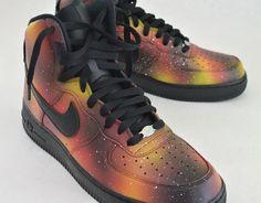 Custom Solar Flare Galaxy Air Force One Nike Sneakers