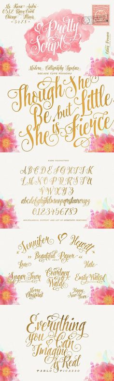 22 Best Selling Gorgeous Fonts (With Web Fonts and Extended Licensing) - Design Cuts Hand Lettering Fonts, Calligraphy Handwriting, Calligraphy Letters, Typography Letters, Brush Lettering, Modern Calligraphy, Typography Design, Font Alphabet, Lettering Styles